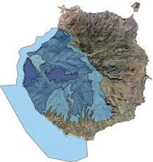 Isla con zona reserva de la biosfera